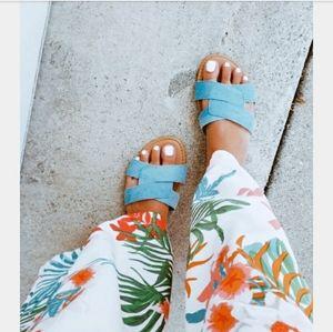 Shoes - The Austin// denim crisscross sandal